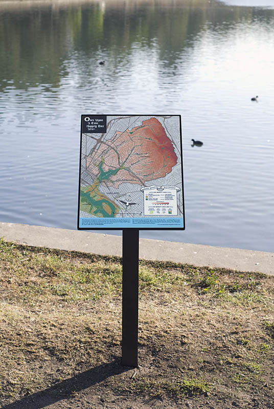 Lake Merritt Interpretive Signage : Surrounding Watershed